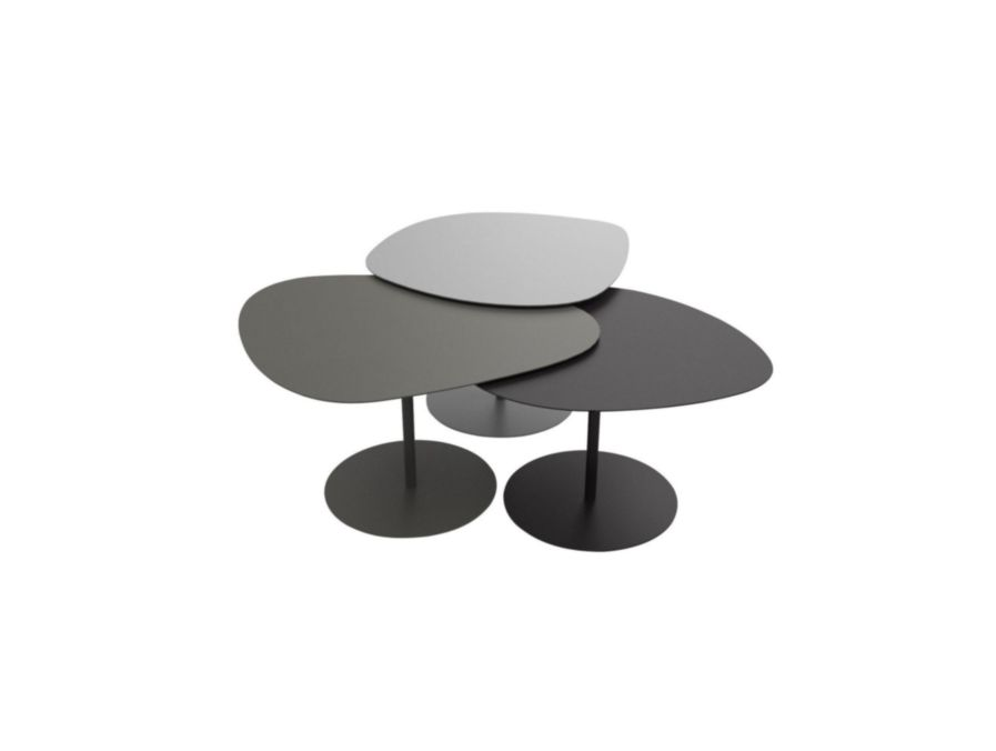 GALETS - Table basse / Table basse outdoor / Matiere grise